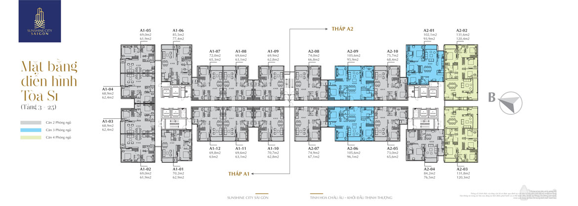 22 apartment layouts Tower S1 Sunshine City Saigon 1